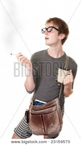 Teen Smoking Cigarette