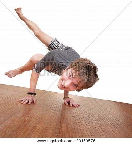 Teen In Koundinyasana Posture
