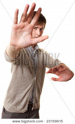Teen Practes Martial Arts