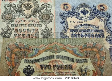 Ancient Banknotes. (Background).