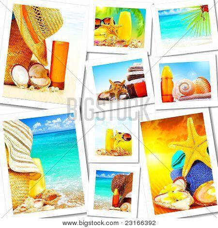 Summer Fun Concept Collage