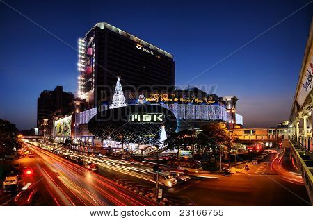 MBK Center at night in Bangkok,Thailand
