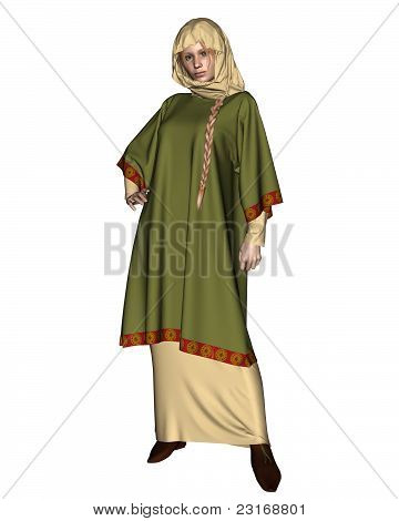 Saxon or Viking Woman with Head Cloth