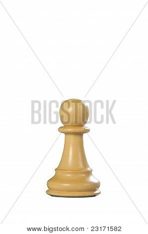 Wooden Chess: Pawn (white)
