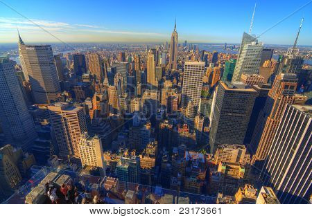 Manhattan Island Skyline