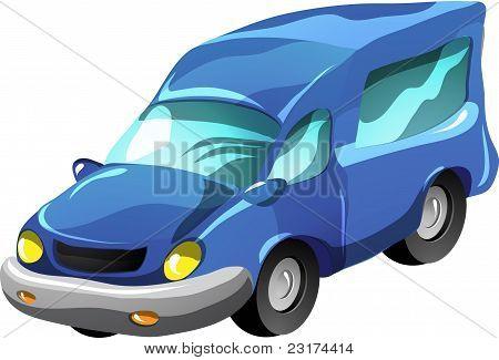 Cartoon minibus