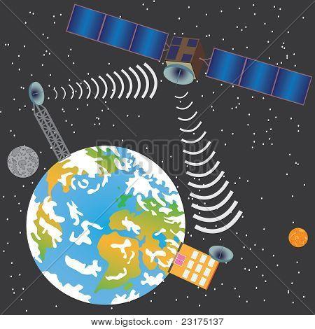 Satellite Transmitting Signal