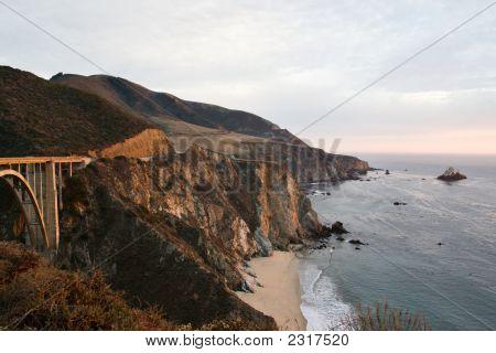 Bixby Bridge Near Monterey, California