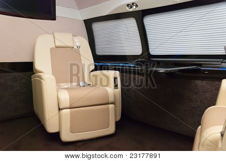 Plane interior. Model