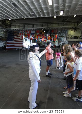A Navy Midshipman Conducts A Civilian Tour