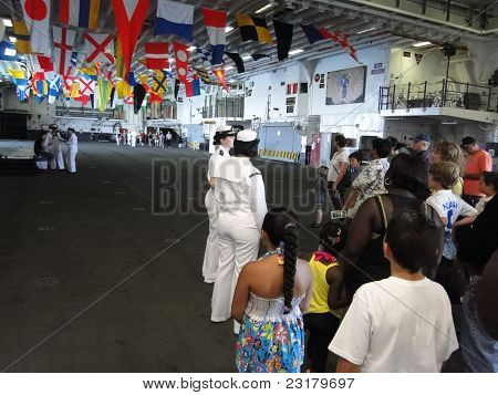 A Navy Midshipman Conducts A Civilian Tour