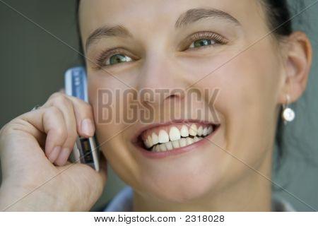 Lächelnd Kommunikation