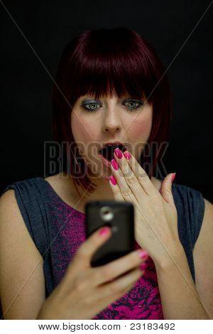 Chocado com a mensagem de texto
