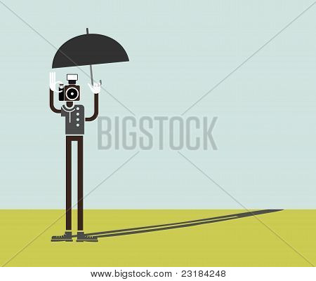Photographer - Vector Illustration