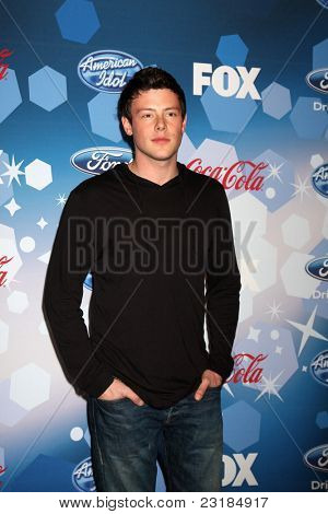 LOS ANGELES - MAR 11: Cory Monteith American Idol Top 12 Party for Season 9 held at the Industry Club on March 11, 2010 in Los Angeles, California