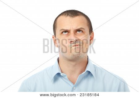 Doubful Businessman