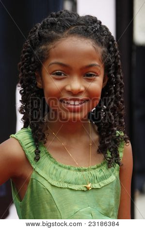 LOS ANGELES - JUNE 6: Yara Shahidi at the premiere of 'Imagine That' at Paramount Studios on June 6, 2009 in Los Angeles, California