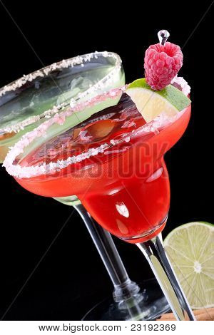 Apple And Raspberry Margaritas  - Most Popular Cocktails Series