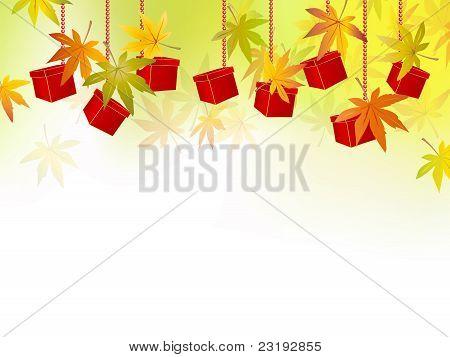 Fall background - autumn leaves - season sale