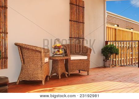 Inviting Outdoor Seating Area