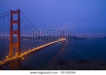 Golden Gate Bridge Night Scene