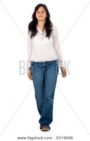 Casual Girl Walking