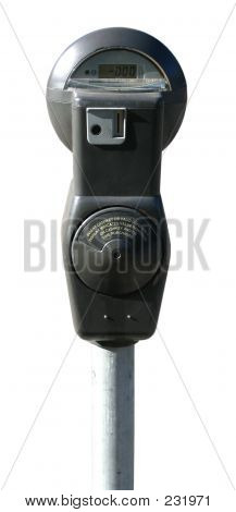 Parking Meter, Isolated Against White Background