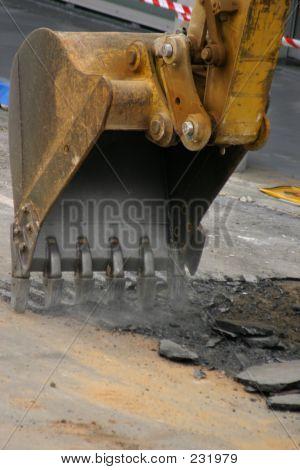 Baustellen - Graben auf der Straße