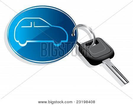 Car key ring vector