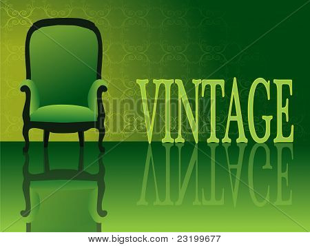 Vintage armchair vector