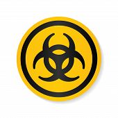 Biohazard Ionizing Radiation Logo Warning Attention Icon. Hazard Radioactive Poison Symbol. Alert Fl poster