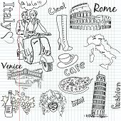 picture of milan  - Sightseeing in Italy doodles - JPG