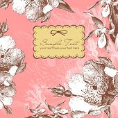 Постер, плакат: старинный цветок фон