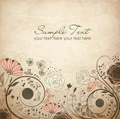 picture of swirly  - Floral greeting card - JPG