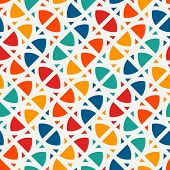 Bright Modern Print With Geometric Shapes. Contemporary Abstract Background With Repeated Figures. C poster