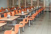 The Interior Of Cafeteria Or Canteen, Nobody poster