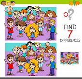 Find Differences With Children Characters poster
