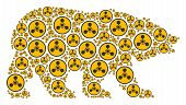 Постер, плакат: Bear Concept Made Of Wmd Nerve Agent Chemical Warfare Elements Vector Wmd Nerve Agent Chemical Warf