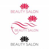 Logo Template For Hair Salon, Beauty Salon, Cosmetic Procedures, Spa Center. Beauty Logo For Hair Sa poster
