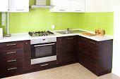 modern domestic Kitchen poster