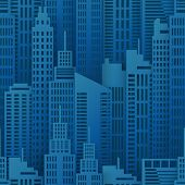 Seamless Urban Background. Paper Skyscrapers. Achitectural Building In Panoramic View. Modern City S poster