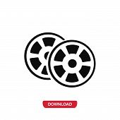 Постер, плакат: Movie Films Icon Vector In Modern Flat Style For Web Graphic And Mobile Design Movie Films Icon Ve