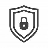 Vector Shield Icon. Security Vector Icon Collection. Protection Logo, Shield. Сryptocurrency Protect poster