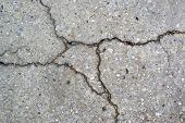 stock photo of terrazzo  - Cracked terrazzo  - JPG