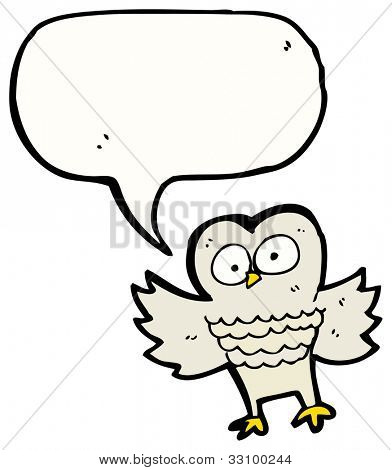 cartoon hooting owl