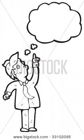cartoon pointing businessman