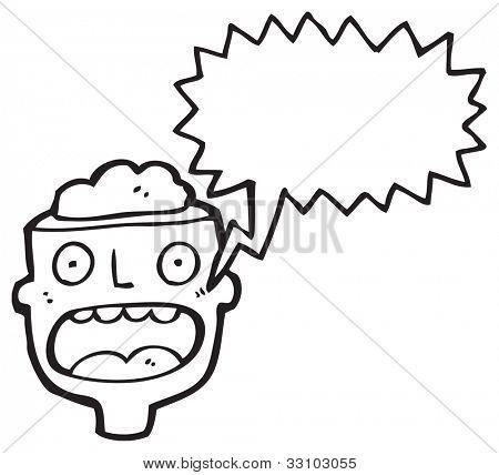 cartoon gross exposed brain head