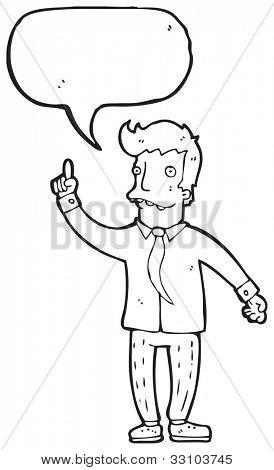cartoon man answering question