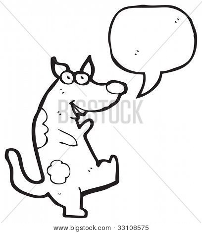 cartoon dancing dog