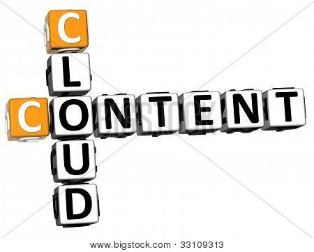 3D Cloud Content Crossword